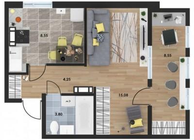 Продажа 1-комн. квартиры в новостройке, 35.98 м², этаж 1 из 10