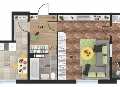 Продажа 1-комн. квартиры в новостройке, 44.83 м², этаж 10 из 10