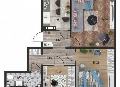 Продажа 3-комн. квартиры, 73.16 м², этаж 10 из 10