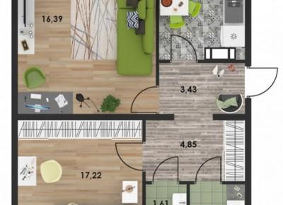 Продажа 2-комн. квартиры в новостройке, 62.36 м², этаж 2 из 10