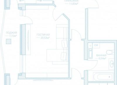 Продажа 2-комн. квартиры в новостройке, 82.4 м², этаж 2 из 10