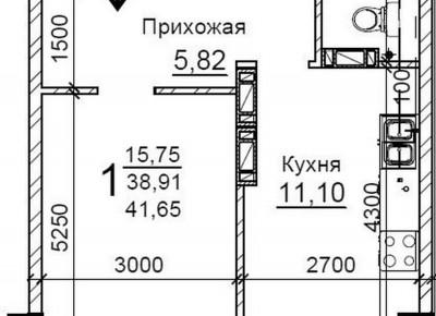 Продажа 1-комн. квартиры, 42 м², этаж 5 из 10