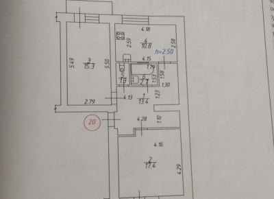 Продажа 2-комн. квартиры, 61 м², этаж 5 из 5